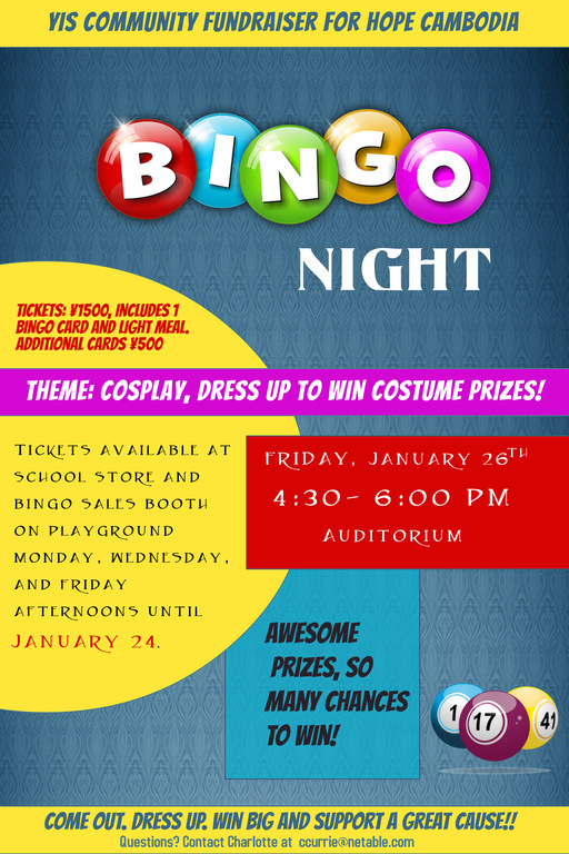 BINGO NIGHT -  A YIS Community Fundraiser for Hope Cambodia
