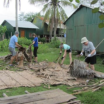 Staff Families Help Build Home in Cambodia