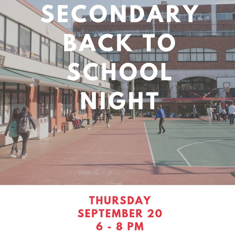 Secondary School Back to School Night