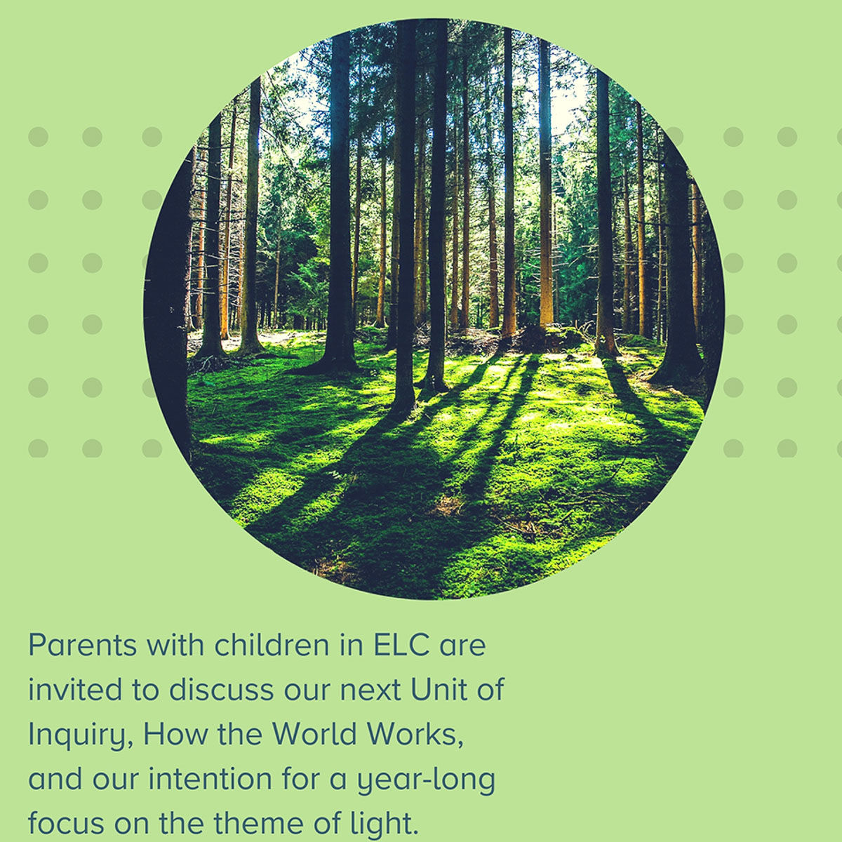 ELC Parents Session: Sharing Our Intentions